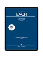 J. S. Bach: Missa in g BWV 235. carus music