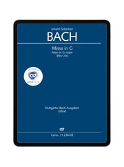 J. S. Bach: Missa in G BWV 236.  carus music