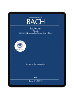 J. S. Bach: Ich lasse dich nicht, du segnest mich denn. carus music