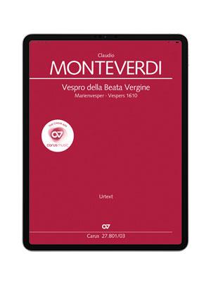 Monteverdi: Vespro della Beata Vergine. carus music