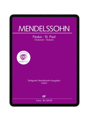 carus music, the choir app. Mendelssohn: Paulus (in German)