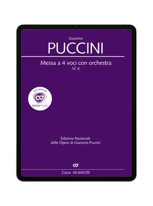 Puccini: Messa a 4 voci con orchestra. carus music