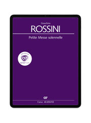 Rossini: Petite Messe solennelle. carus music