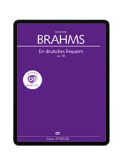 Brahms: Ein deutsches Requiem. carus music