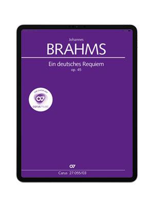 Brahms: Ein deutsches Requiem. carus music