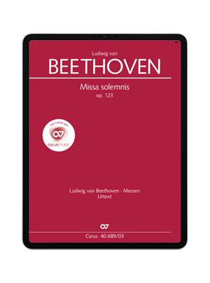 Beethoven: Missa solemnis. carus music