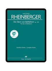 Rheinberger: Der Stern von Bethlehem. carus music