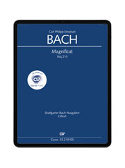 C. P. E. Bach:  Magnificat. carus music