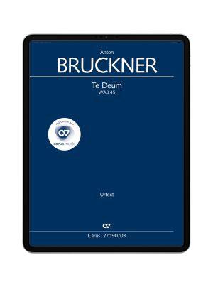 Bruckner: Te Deum. carus music