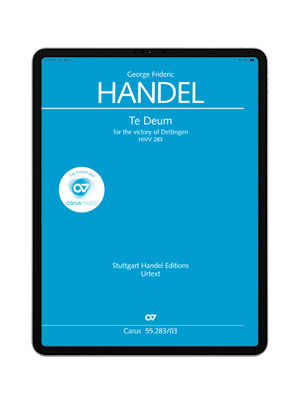 Händel: Te Deum for the Victory of Dettingen. carus music