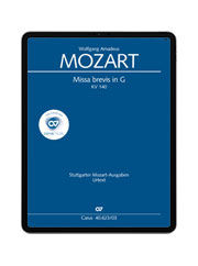 W. A. Mozart: Missa brevis in G. carus music