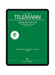 Telemann: Machet die Tore weit. carus music