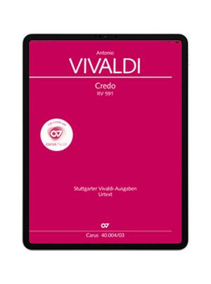 Vivaldi: Credo. carus music