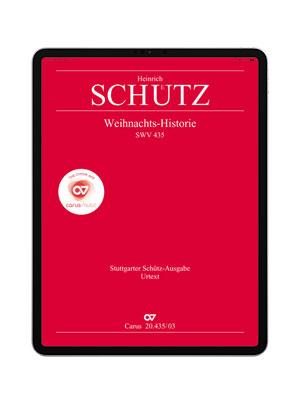 Schütz: Christmas History SWV 435. carus music
