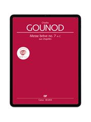 Gounod: Messe brève no. 7 aux chapelles. carus music