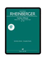 Rheinberger: Missa in Es. carus music
