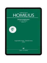 Homilius: Johannespassion. carus music