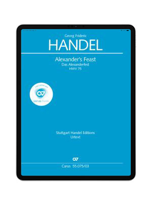 Händel: Alexander's Feast. carus music