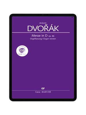 Dvorák: Messe in D. Orgelfassung. carus music