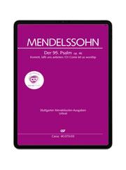 Mendelssohn: Der 95. Psalm. carus music