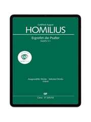 Homilius: Ergreifet die Psalter, ihr christlichen Chöre. carus music