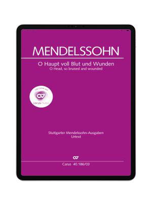 Mendelssohn: O Haupt voll Blut und Wunden. carus music