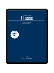 Hasse: Miserere in C. carus music