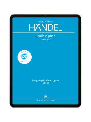Händel: Laudate pueri. carus music