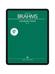 Brahms: Liebeslieder-Walzer op. 52. carus music