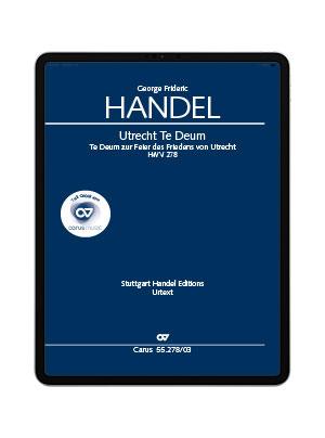 Händel: Utrecht Te Deum. carus music