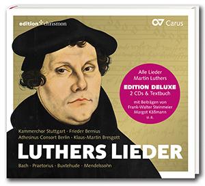 Luther's Songs. Choral music by Bach, Praetorius, Buxtehude, Mendelssohn, Jennefeldt (Bernius, Bresgott)