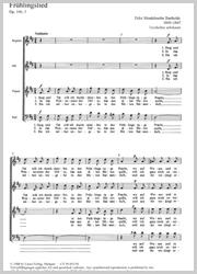 Felix Mendelssohn Bartholdy: Frühlingslied