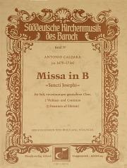 Antonio Caldara: Missa in B