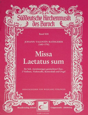 Johann Valentin Rathgeber: Missa Laetatus sum