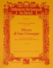 Johann Ernst Eberlin: Messa di San Giuseppe