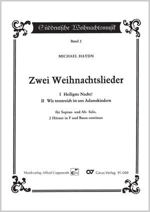 Weihnachtslieder Partitur.Johann Michael Haydn Zwei Weihnachtslieder Partitur Carus Verlag