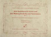 Murschhauser: Acht Instrumental-Arien und drei Weihnachtslieder mit Variationen