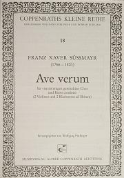 Franz Xaver Süßmayr: Ave verum