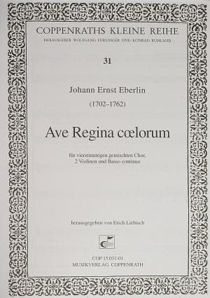 Johann Ernst Eberlin: Ave Regina coelorum