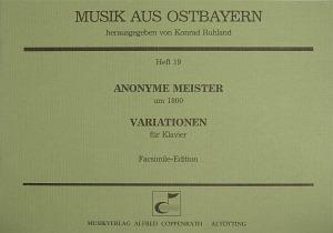 Anonymus: Variationen für Klavier