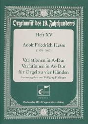 Hesse: Variationen für Orgel zu vier Händen