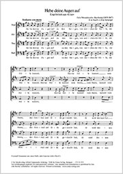Felix Mendelssohn Bartholdy: Hebe deine Augen auf