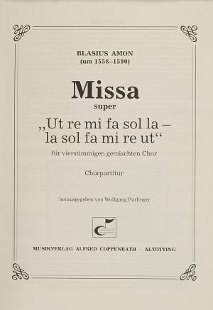 Blasius Amon: Missa super