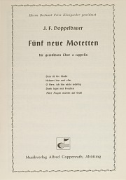 Five new motets