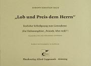 Johann Sebastian Bach: Lob und Preis dem Herrn