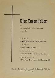 Kraft/Romanovsky: Vier Totenlieder