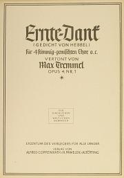 Max Tremmel: Ernte-Dank