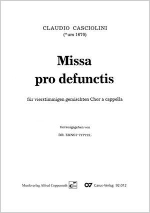 Claudio Casciolini: Missa pro defunctis