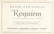 Anton Dawidowicz: Requiem
