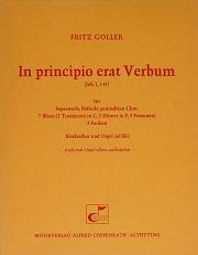 Fritz Goller: In principio erat Verbum
